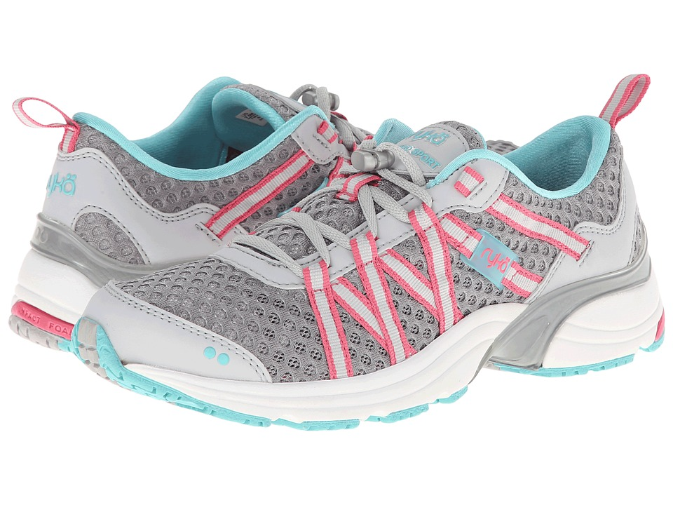 Ryka - Hydro Sport SLP (Silver Cloud/Cool Mist Grey/Winter Blue/Hot Pink) Womens Shoes