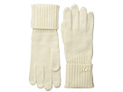 Cole Haan Diagonal Rib Glove (Ivory)