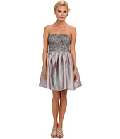 Adrianna Papell - Short Beaded Dress w/ Taffeta Skirt