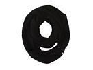 Cole Haan Diagonal Rib Infinity Scarf (Black)