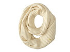 Cole Haan Diagonal Rib Infinity Scarf (Ivory)