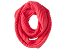 Cole Haan Diagonal Rib Infinity Scarf (Pink)