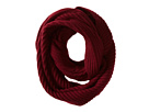 Cole Haan Diagonal Rib Infinity Scarf (Red)