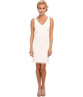 Adrianna Papell - Short Beaded V-Neck Dress