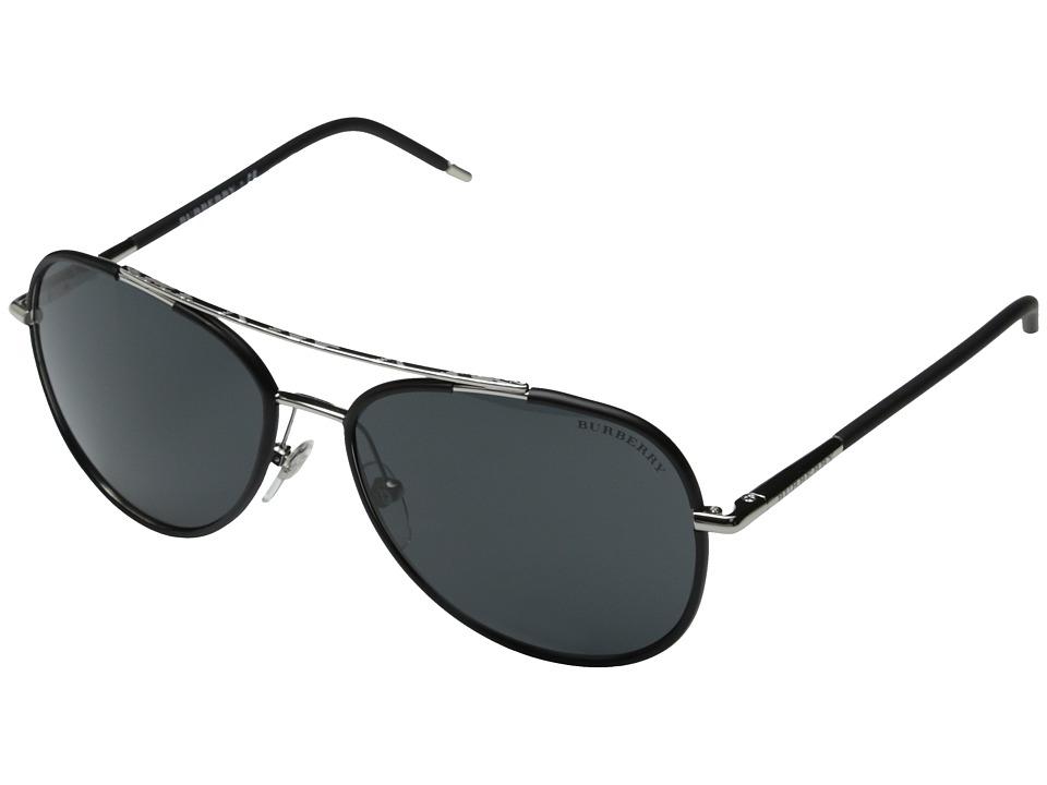 Burberry 0BE3078 Silver/Matte Black/Grey Fashion Sunglasses