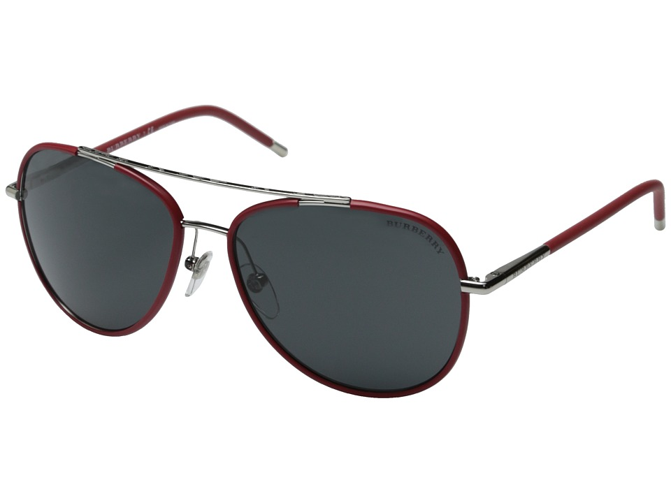 Burberry 0BE3078 Silver/Matte Red/Grey Fashion Sunglasses