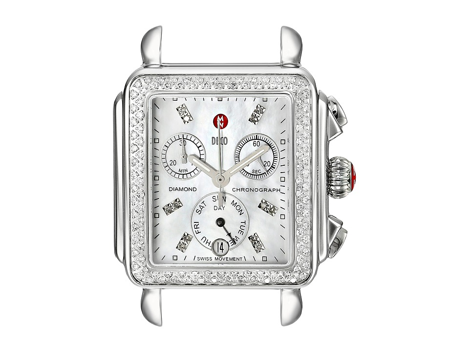 Michele Deco Diamond Diamond Dial Silver/Steel Watch Head Silver/Steel Analog Watches