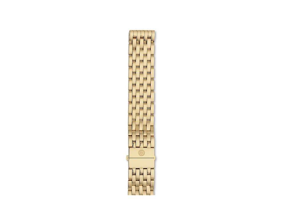 Michele - 18mm Deco Gold 7-Link Bracelet (Gold) Watches