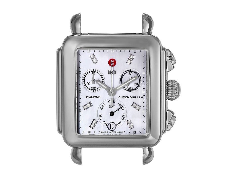 Michele Deco Diamond Dial Silver/Steel Silver/Steel Watches