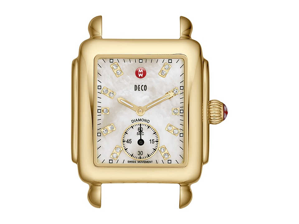 Michele - Deco Gold, Diamond Dial Watch Head