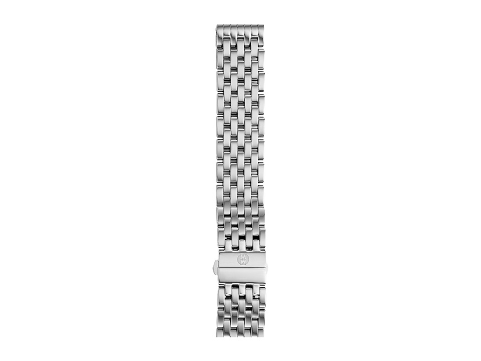 Michele - 18mm Deco 7-Link Bracelet Silver/Steel