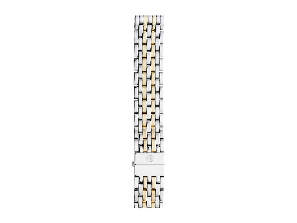 Michele - 18mm Deco Two-Tone 7-Link Bracelet Silver/Gold