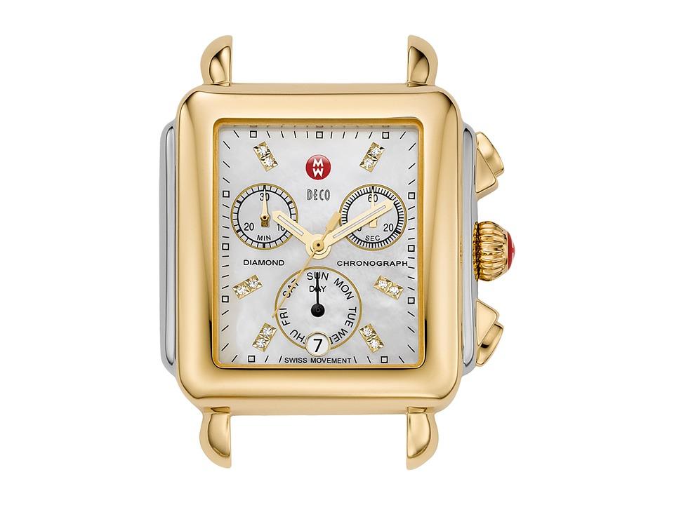 Michele - Deco Two-Tone, Diamond Dial Silver/Gold Watch Head