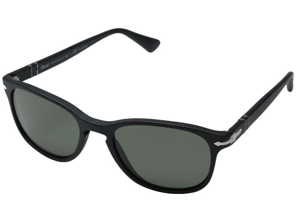 Persol 0PO3086S Matte Black/Polar Green Fashion Sunglasses