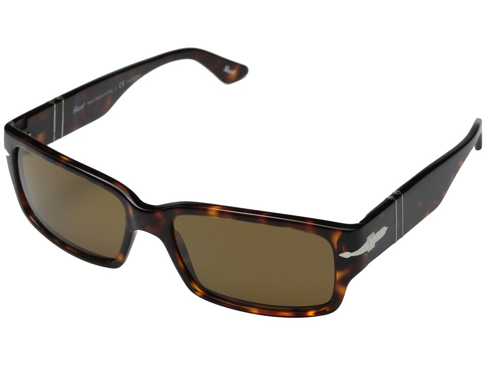 Persol 0PO3087S Havana/Brown Polarized Fashion Sunglasses
