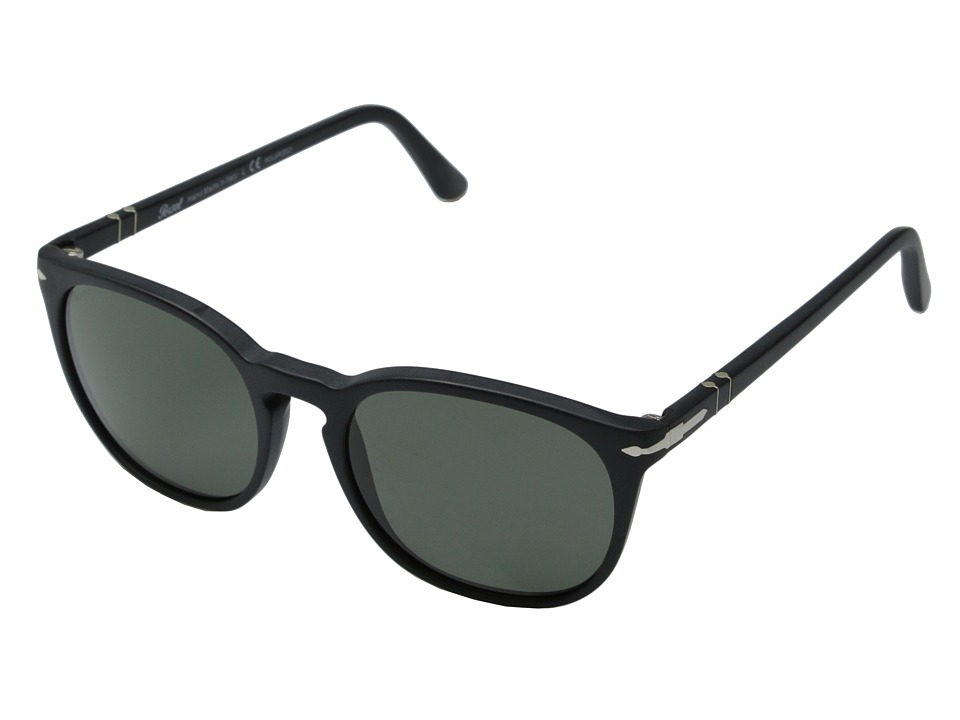 Persol - 0PO3007S (Matte Black/Polar Green) Fashion Sunglasses
