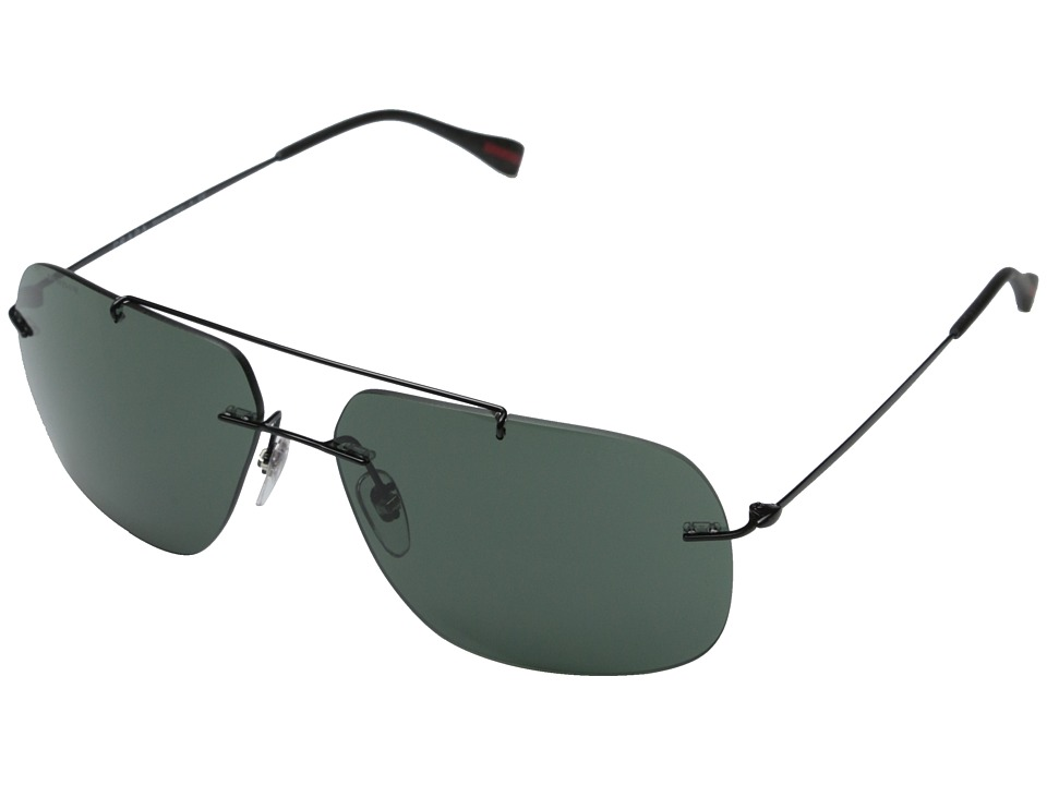 Prada Linea Rossa 0PS 55PS Black/Grey Green Fashion Sunglasses