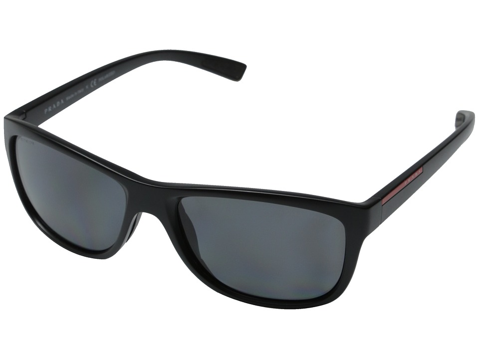 Prada Linea Rossa 0PS 05PS Matte Black/Polar Grey Fashion Sunglasses
