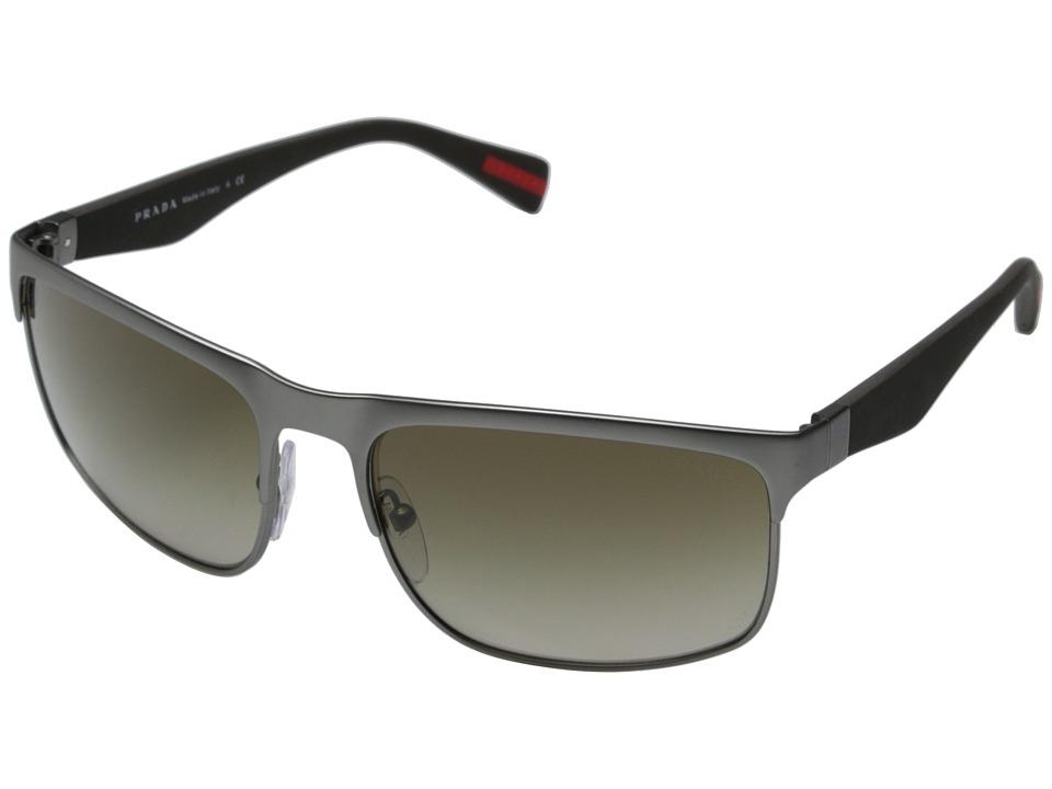 Prada Linea Rossa 0PS 56PS Gunmetal Rubber Brown/Brown Gradient Fashion Sunglasses
