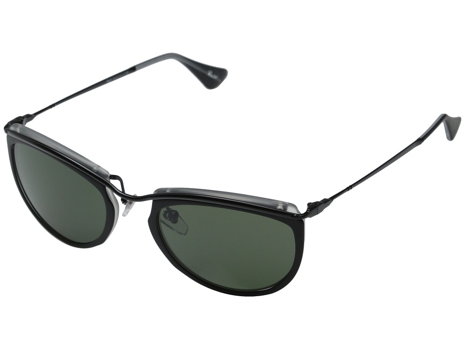 Persol - 0PO3082S (Top Black/Matte Crystal/Green) Fashion Sunglasses