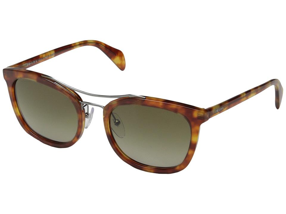 Prada 0PR 17QS Light Havana/Brown Gradient Fashion Sunglasses