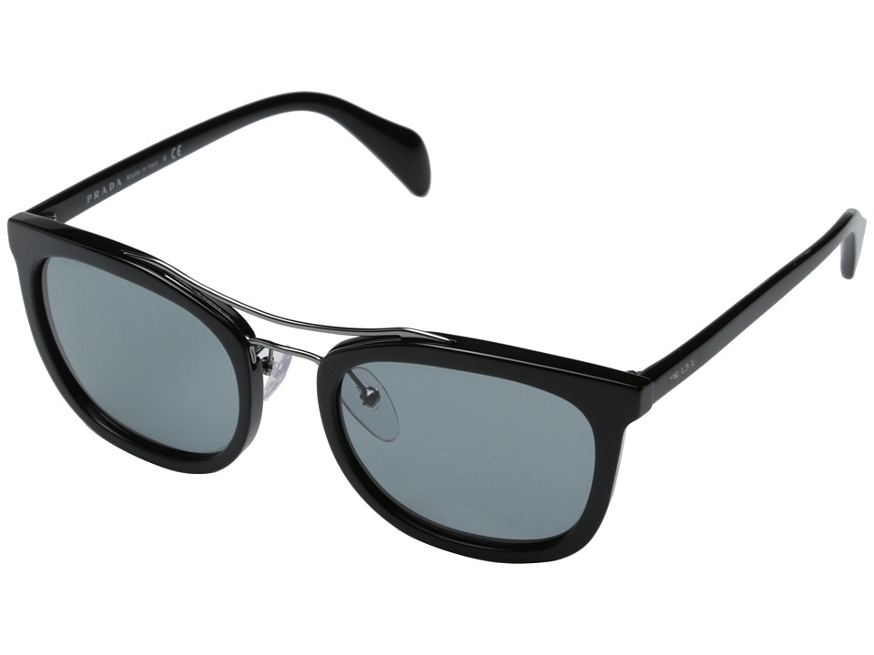 Prada 0PR 17QS Black/Dark Grey Fashion Sunglasses