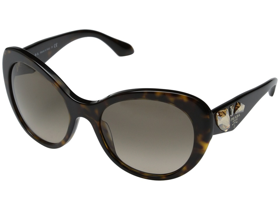 Prada 0PR 26QS Havana/Light Brown Gradient Fashion Sunglasses