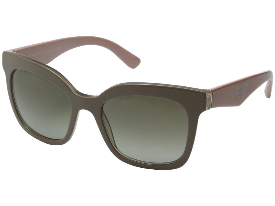 Prada 0PR 24QS Beige/Green Gradient Fashion Sunglasses