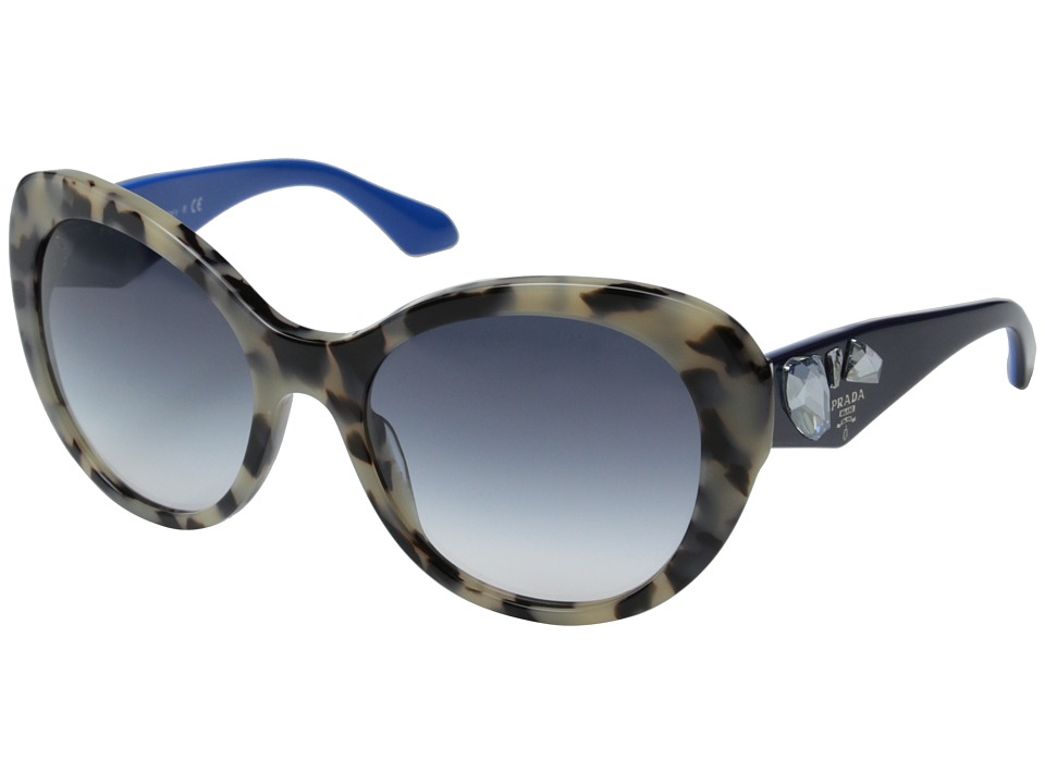 Prada 0PR 26QS White Havana/Clear Gradient Blue Fashion Sunglasses