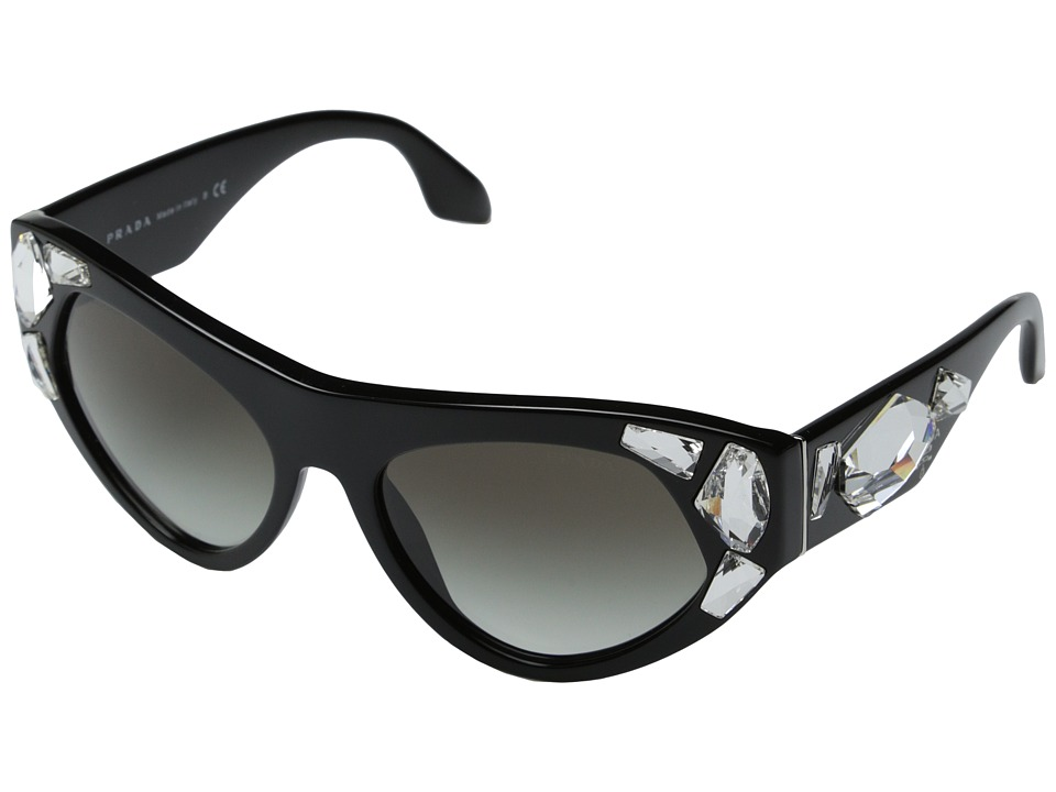 Prada 0PR 21QS Black/Grey Gradient Fashion Sunglasses