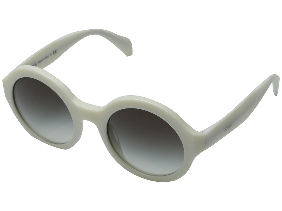 Prada 0PR 06QS Ivory/Grey Gradient Fashion Sunglasses