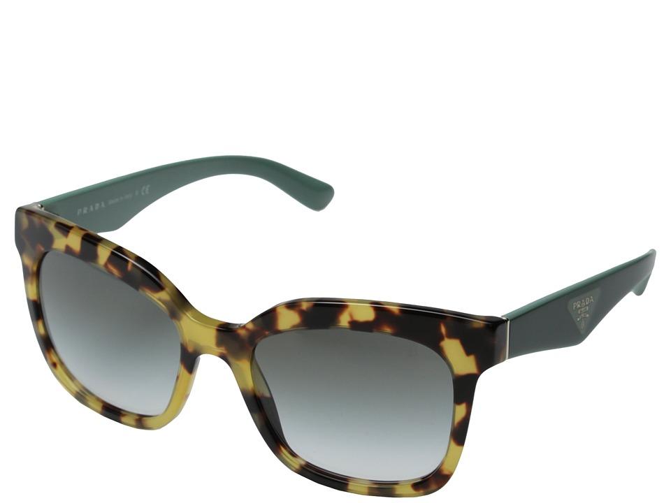 Prada 0PR 24QS Medium Havana/Green Gradient Fashion Sunglasses