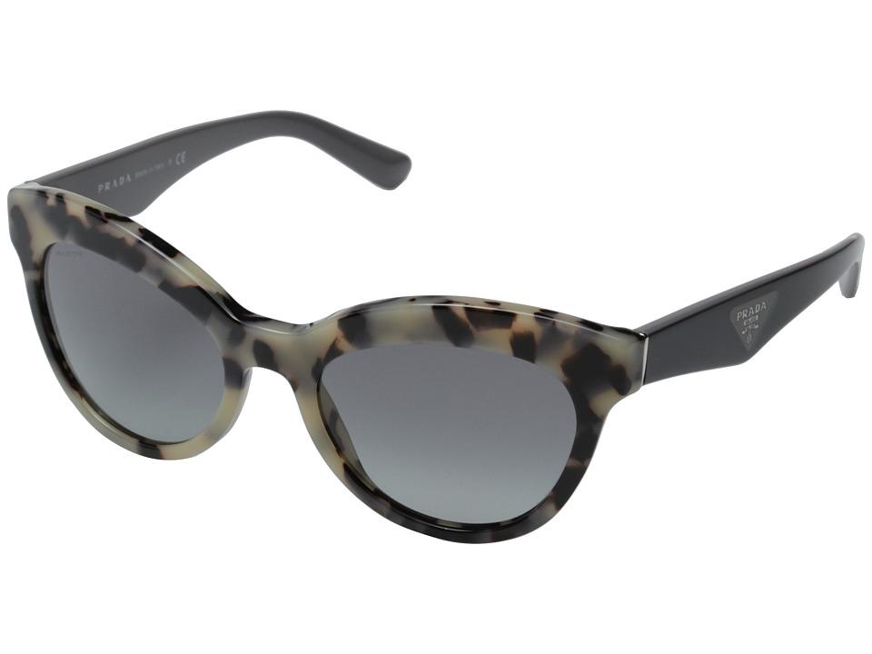 Prada 0PR 23QS White Havana/Grey Gradient Fashion Sunglasses