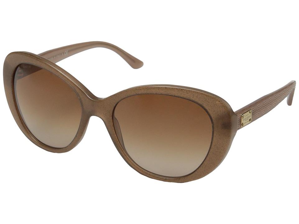 Versace VE4273 Glitter Brown/Opal Brown/Brown Gradient Fashion Sunglasses
