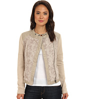 Free People - Jaquared Pieced Vegan Moto Jacket