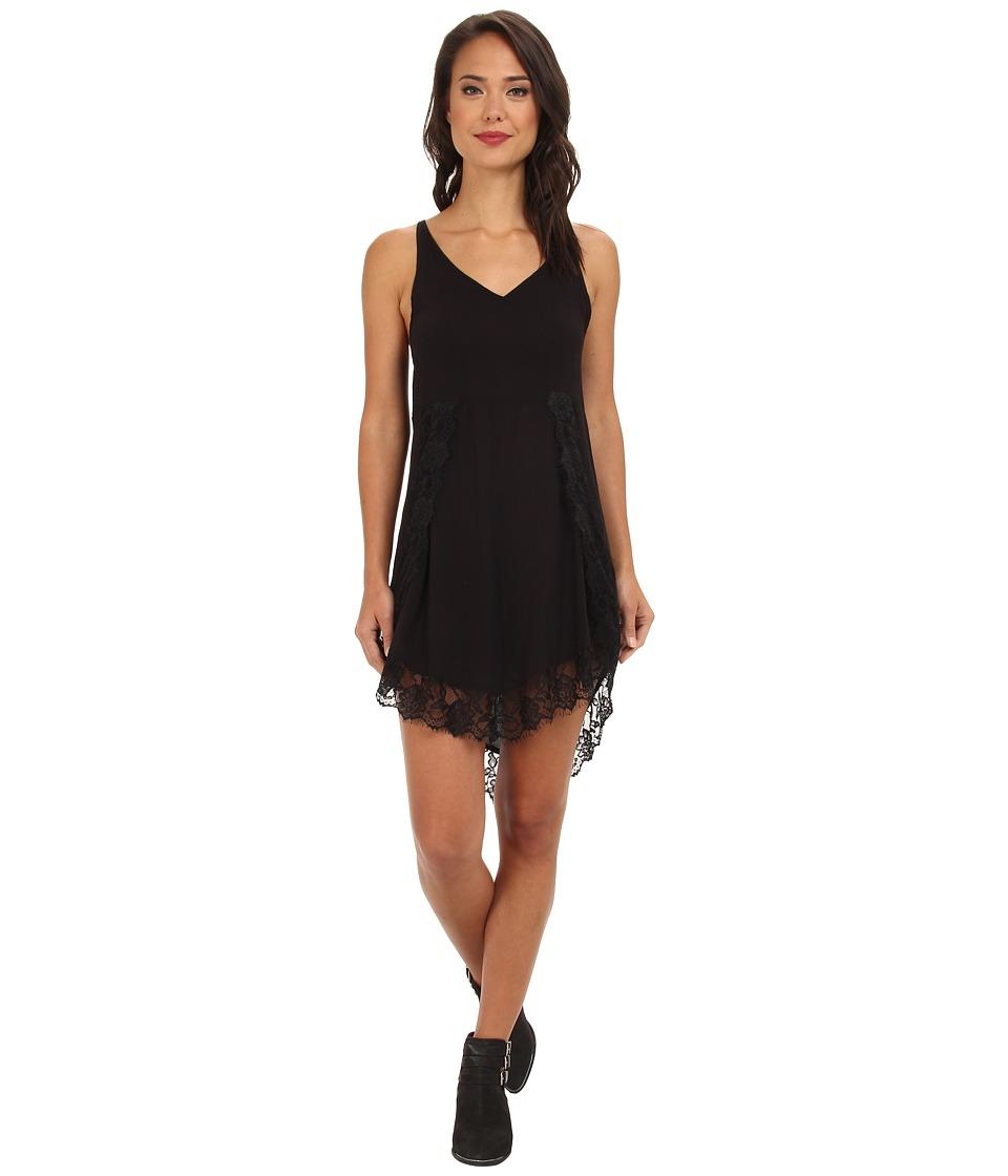 Free People Eyelashes Slip Black Womens Dress