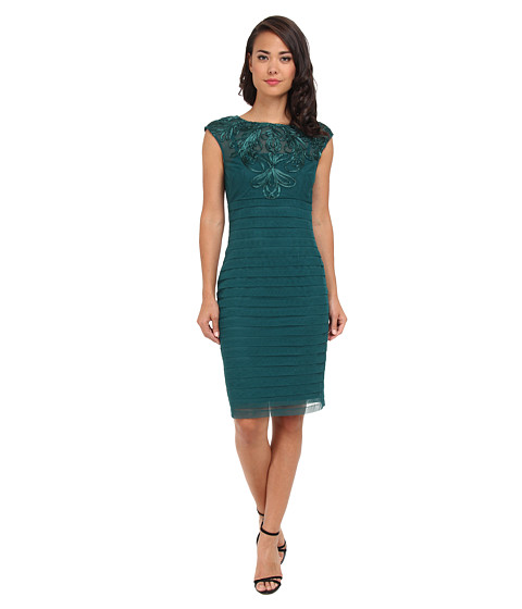 Adrianna Papell Banded Soutache Sheath Dress