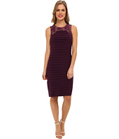 Adrianna Papell - Sleeveless Lace Framed Banded Dress