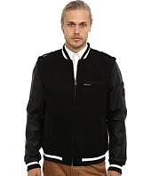 Members Only - Wool Blend Rocker Varsity Jacket w/ PU Sleeves