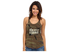Gypsy SOULE - Camo Razorback Tank w/ Be Brave, Be Fierce Headdress Arrows Design (Camo)