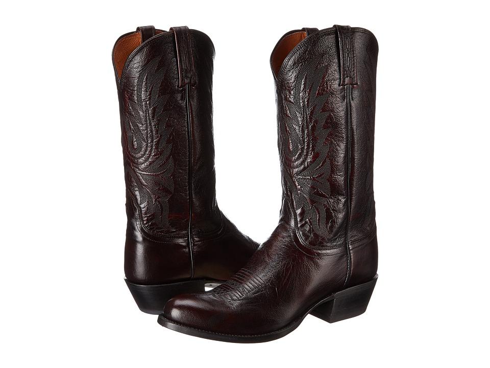Lucchese M1021.R4 (Black Cherry Lonestar Calf Cowbow) Cowboy Boots