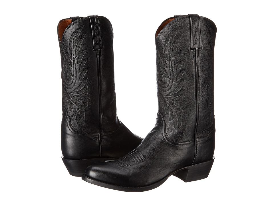Lucchese M1020.R4 (Black Lonestar Calf Cowboy) Cowboy Boots