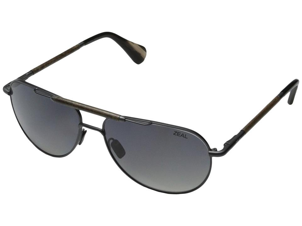 Zeal Optics Barstow Colt Steel w / Gradient Polarized Dark Grey Lens Sport Sunglasses