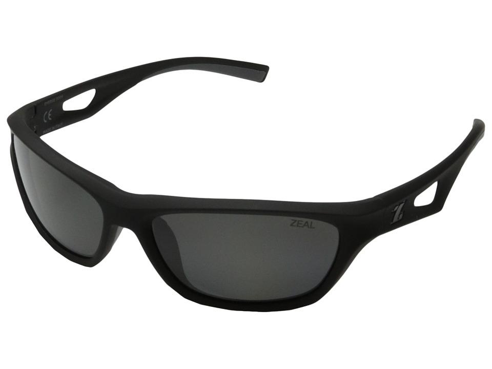 Zeal Optics Emerge Black w / Polarized Dark Grey Lens Fashion Sunglasses