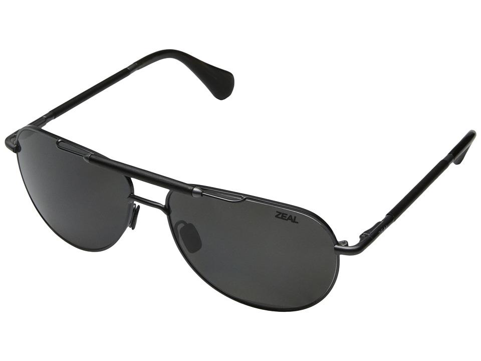 Zeal Optics Barstow Polished Steel w / Polarized Dark Grey Lens Sport Sunglasses