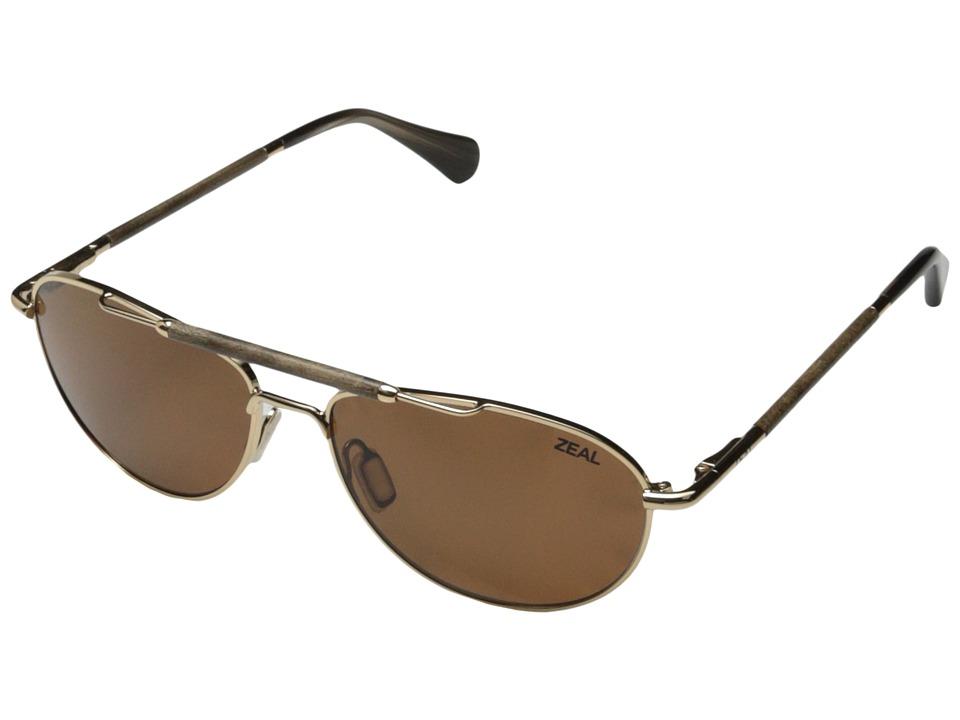 Zeal Optics Fairmont Polished Gold w / Polarized Copper Lens Fashion Sunglasses