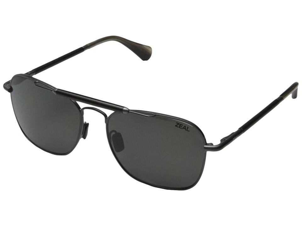 Zeal Optics Draper Polished Steel w / Polarized Dark Grey Lens Fashion Sunglasses