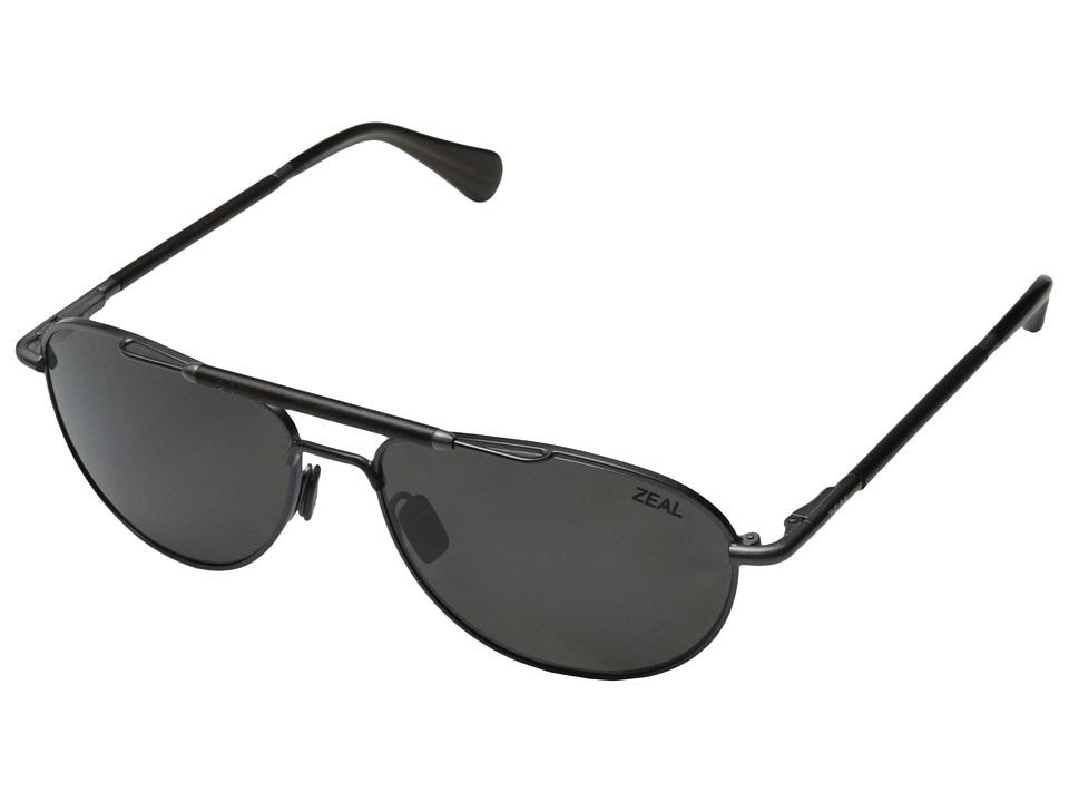 Zeal Optics Fairmont Polished Steel w / Polarized Dark Grey Lens Fashion Sunglasses
