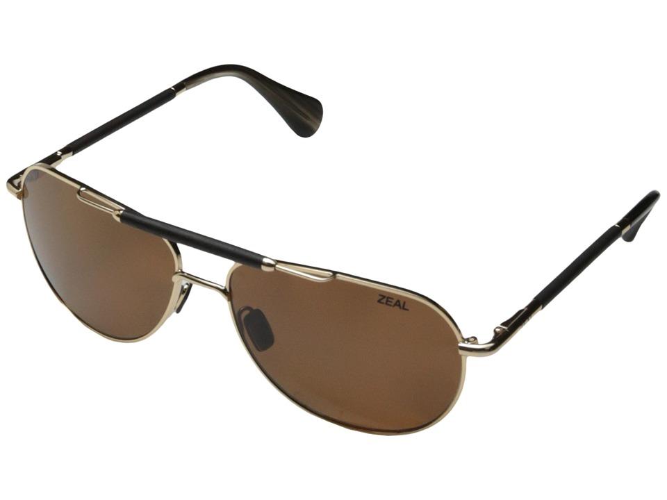 Zeal Optics Barstow Polished Gold w / Polarized Copper Lens Sport Sunglasses