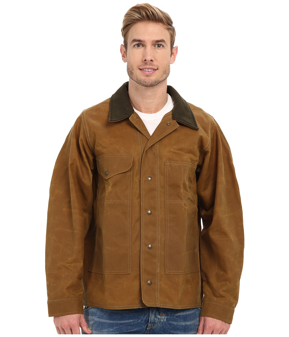 Filson Tin Jacket Extra Long Tan Mens Jacket